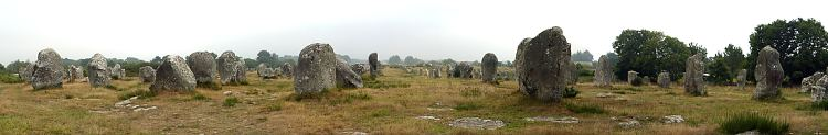 the alignments at Carnac, Brittany